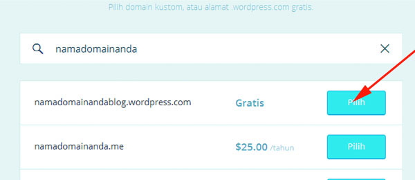 cara membuat website gratis di wordpress 03