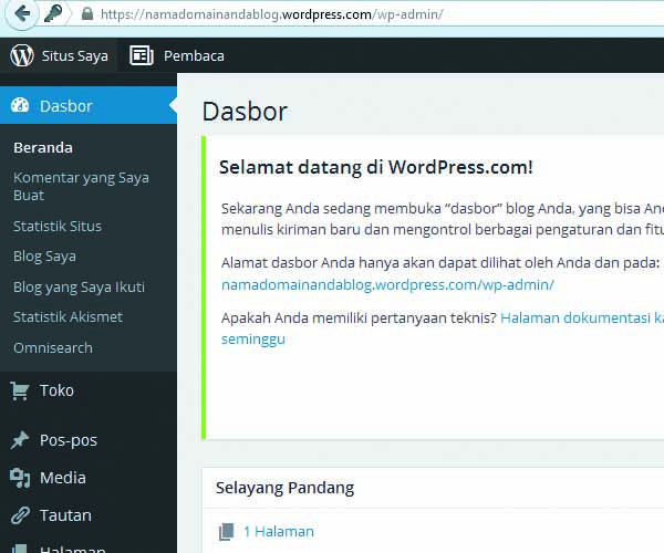 cara membuat website gratis di wordpress 10