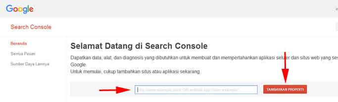 halaman-depan-search-console